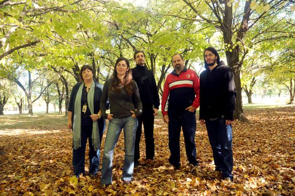 Sergio Dasso y su grupo de investigación. Foto: Juan Pablo Vittori