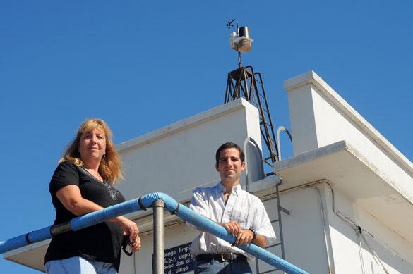 Claudia Simionato y Diego Moreira. Foto: CePro-EXACTAS