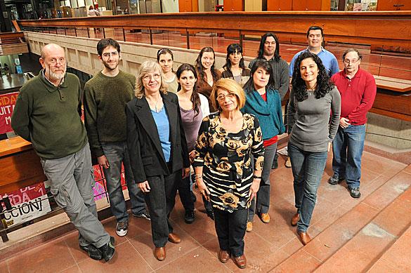 Lidia Poggio y su grupo. Foto: Juan Pablo Vittori