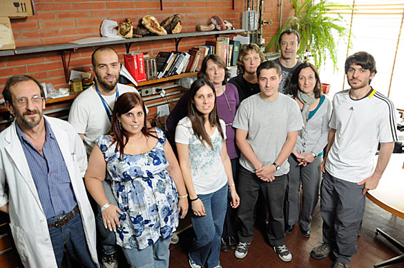 Flavia Forchiassin y su grupo de Investigación. Foto: Juan Pablo Vittori