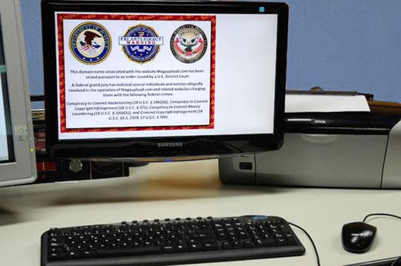 La página de Megaupload bloqueda por el FBI. Foto: Juan Pablo Vittori