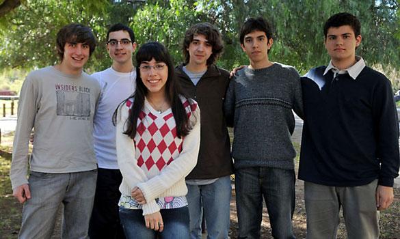 Equipo argentino que participó en la OMI. Foto: Gentileza Telam