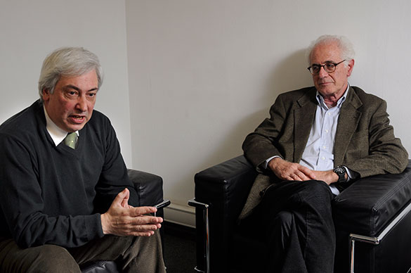 Héctor Targovnik y Víctor Penchaszadeh. Foto: Diana Martinez Llaser. CePro-EXACTAS