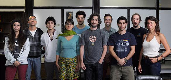 Folguera y su grupo. Foto Diana Martinez Llaser
