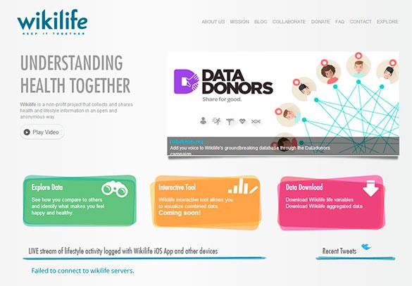 El sitio web wikilife.org