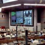 Sala de controles de la base de Kourou. Foto: Fernando Lombardo