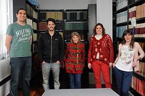 (De izq. a der.) Gabriel León García, Emilio Rubín de Celis, María Cecilia Tomasini, Susana Landau y Lucila Kraiselburd.