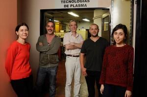 Diana Grondona (de rojo), Leandro Giuliani, Fernando Minotti, Jorge Gallego, Magalí Xaubet.