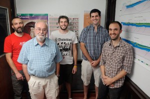 Francisco Grings, Victor Ramos, Matías Barber, Pablo Perna y Mauro Spagnuolo