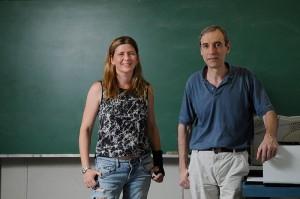 Laura Sraibman y Fernando Minotti.