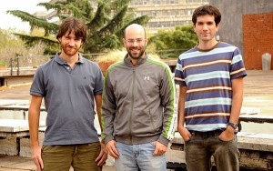 (De izq. a der.) Pablo Laciana, Diego Fernández Slezak y Mariano Bianchi. Foto: Exactas Comunicación