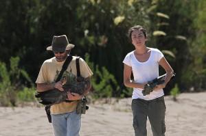 José Hernán Sarasola junto a Emilia Giusti, estudiante de la carrera Ingeniería en Recursos Naturales y Medio Ambiente en la Universidad Nacional de La Pampa.