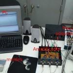 Conjunto de equipos utilizados por los investigadores para producir la voz sintética.