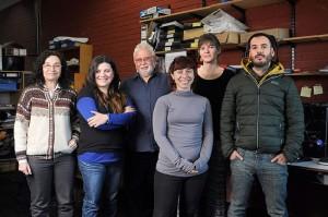 (De izq. a der.) Nora Madanes, Piedad Cristiano, Guillermo Goldstein, María Virginia Díaz Villa, Theis Efron y Laureano Oliva Carrasco.