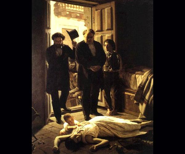 """""""Episodio de la fiebre amarilla"""". Juan Manuel Blanes. Museo Nacional de Artes Visuales, Montevideo"""