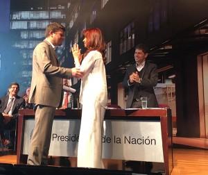 Entrega del premio Houssay a Sebastián Uchitel. Foto: MINCyT.