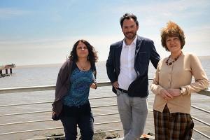 Carolina Vera, Alexis Hannarr y Bibiana Cerne.
