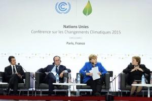 (De izq. a der.) Enrique Peña Nieto, Francois Hollande, Angela Merkel, Michelle Bachelet.