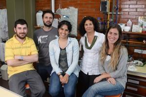 Carlos Pomilio, Juan Beauquis, Florencia Todero, Flavia Saravia y Angeles Vinuesa.