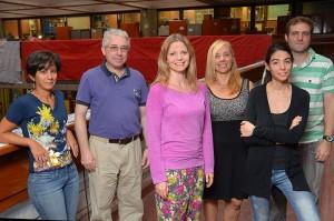 (De izq. a der.) Romina Ruscica, Claudio Menéndez, Anna Sörensson, Andrea Carril, Noelia López de la Franca Arema, Pablo Zaninelli.