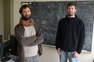 Alejo Salles y Luciano Paz. Foto: Exactas Comunicación.