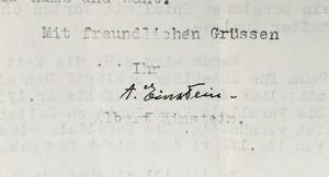Para delicia de los aficionados a los objetos firmados, esta carta de Einstein permanece protegida en una sala con estrictos controles de temperatura y humedad ambiente.