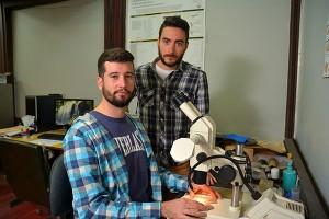 Andrés Ignacio Lires y Raúl Orencio Gómez . Foto: Exactas-Comunicación.