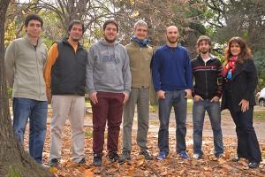 (De izq. a der.) Patricio Montarón, Maximilano Crespo, Facundo Sánchez, Eduardo Luzzi, Martín Poblet, Fabricio Della Picca y Andrea Bragas.