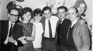 (De izq. a der.) Eduardo Flichman, Oscar Folguera, Guillermo Boido. Juan Pablo Schifini. Foto: Biblioteca Digital / Programa de Historia de la FCEN.