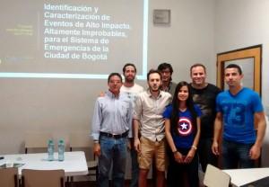Integrantes del equipo que presentó la propuesta en el encuentro interdisciplinario organizado por el CELFI en Exactas UBA.