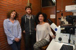 Verónica García, Joaquín Pellegrini y Nancy Tateosian.
