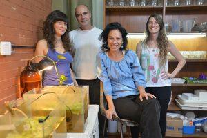 (De izq. a der.) Lucila Herbert, Luis Cacciatore, Gisela Kristoff y Paula Cossi.