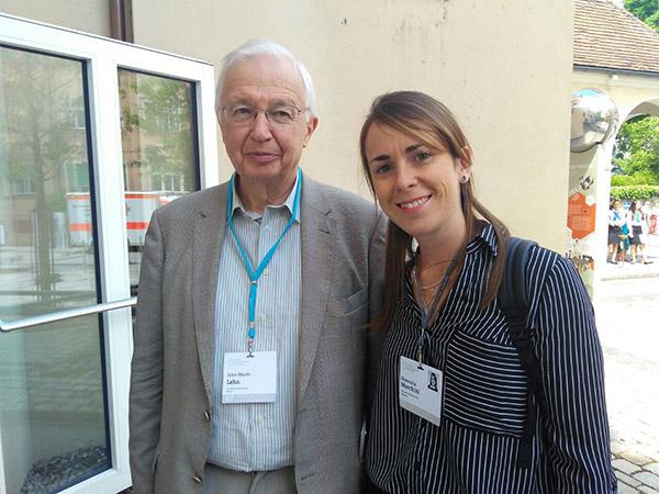 Marchini junto a Rudolph Marcus, Premio Nobel 1992.