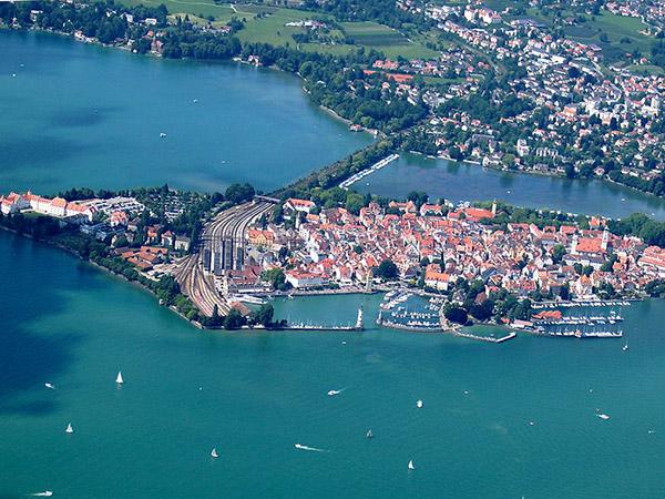 Imagen de la parte antigua de la ciudad de Lindau. Foto: Myratz