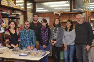 (De izq. a der.) Cecilia Cataldo, Darío Lazo, Pablo Milla Carmona, Agustina Toscano, Leticia Luci, Mariel Andrada y Ricardo Garberoglio.
