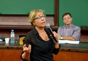"""""""Si no acordamos la necesidad de hacer investigación relacionada con la problemática regional nunca vamos a obtener los votos para que nos aumenten el presupuesto"""". Foto: Diana Martinez Llaser. Exactas Comunicación."""