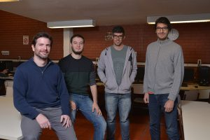 (De izq. a der.) Agustín Gravano, Pablo Brusco, Juan Manuel Pérez, Ramiro Gálvez. Foto: Diana Martinez Llaser.