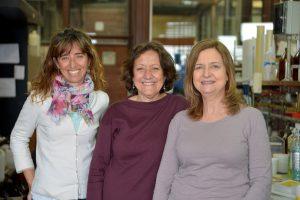 (De izq. a der.) Malena Landoni, Alicia Couto y Adriana Casabuono.