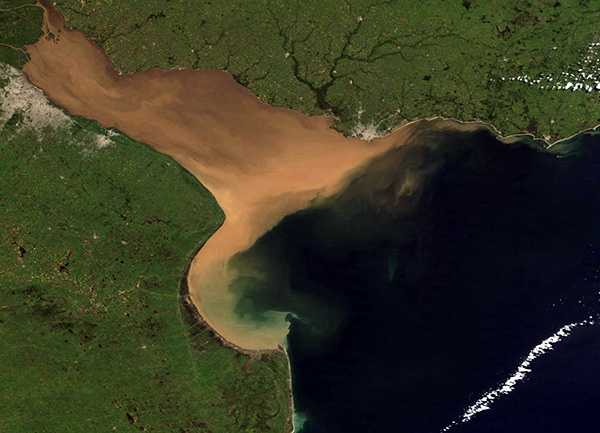 Imagen RGB del Río de la Plata.m Gentileza Ana Dogliotti.