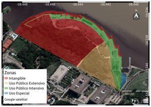 Mapa de la zonificación de la Reserva propuesto por Exactas UBA. (Clickear sobre la figura para ampliar).