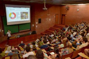 La presentación del informe se realizó en la Facultad de Ciencias Exactas y Naturales de la UBA. Foto: Exactas Comunicación.,