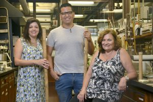 (De izq. a der.) Nancy García, Carlos Rodríguez Ramírez y Norma D'Accorso.