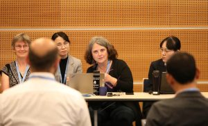 Carolina Vera durante las reuniones del IPCC que se llevaron a cabo en Mönaco.