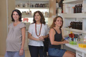 (De izq. a der.) María Florencia Ogara, Adali Pecci, Luciana Rocha Viegas.