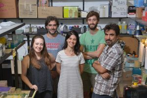 (De izq. a der.) Macarena Alvarez, Javier Gasulla, Yamila Gándola, Ezequiel Alba Posse y Alejandro Nadra.