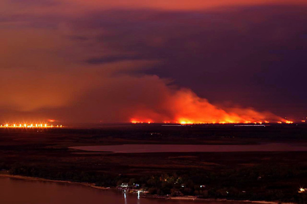 El fuego no sólo está afectando al Delta sino a todo el valle aluvial del Paraná, hasta el norte de Santa Fe y sur de Chaco
